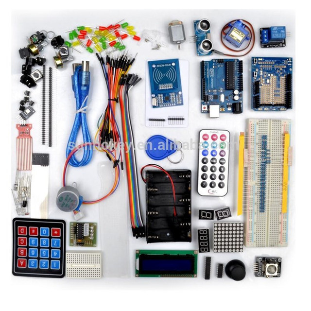 New Arrival High Quality UNO R3 Super Learning Kit RFID Upgraded  Starter Kit Suitable for Arduino Free Shipping