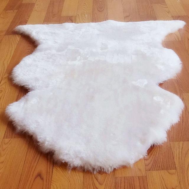 Wolle Teppich Pelzigen Teppich Schlafzimmer Teppich Das Wohnzimmer Teppich  Schaffell Kissen Winter Dekoration Der Teppich