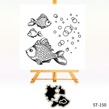 Fish in the water Clear stamps and Metal Cutting Dies Set for DIY Scrapbooking Photo Album Decoretive Embossing Stencial амперка образовательный коструктор робожук