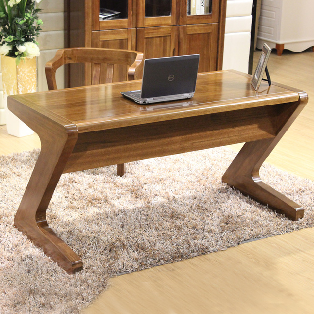 Superieur All Solid Wood Walnut Computer Desk Minimalist Home Laptop Type Z Table