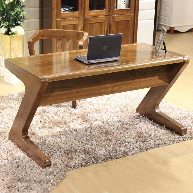 Todo de madera maciza de nogal tipo z mesa minimalista - Escritorios rusticos de madera ...