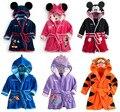 Новый стиль детский мультфильм фигуры животных пижамы дети семьи спальные халаты для девочек и мальчиков пижамы детские pijamas