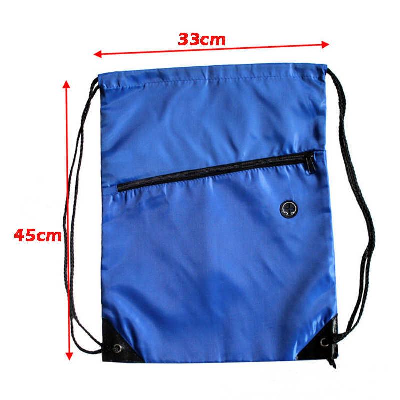 4c90409b695b ... Mini Waterproof Nylon Shoe Bags Storage Gym Bags Drawstring Dust  Backpacks Storage Pouch Outdoor Travel Duffle ...