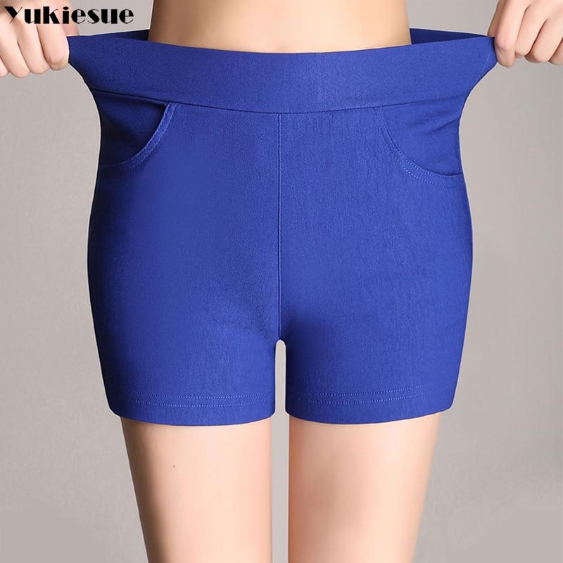 2018 Neue Sommer Heiße Mode Neue Frauen Shorts Hohe Taille Casual Candy Farbe Shorts Schwarz Weiß Frauen Kurze Hosen Damen Shorts
