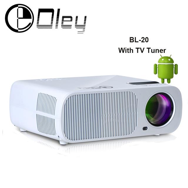 OLEY BL-20 Android 4.4 wifi 3000 lúmenes HDMI USB VGA 1080 P de Cine En Casa De Vídeo inteligente LED TV Proyector Projetor HD Proyector