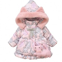 New  Girls Winter Cartoon coats warm outerwear hooded Autumn 9M-2 old size Clothes
