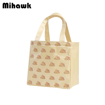 Mihawk Hello Kitty Pattern Lunch Bags Cartoon Portable Thermal Food Ice Storage Package Easy Carrying School Work Box Pouch Tote tote bags for work