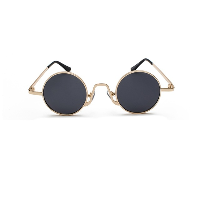 Round Steampunk Sunglasses Men Women Punk Style Sun Glasses Metal Small Shades Circle Vintage Male Unisex UV400 Eyewear
