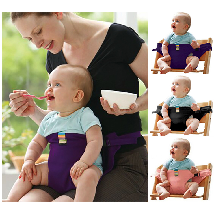 Baby Dining Chair Safety Belt Portable Foldable Children Travel Safety Belt Seat Chair Harness Baby Booster Seat