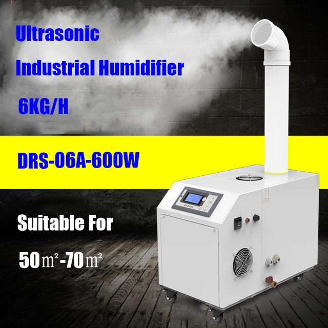 Commercial Ultrasonic Industry Humidifier DRS-06A  Big Humidification Quantity Led Display Timing Mist Maker Fogger 220V 600W