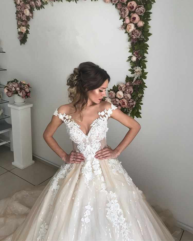 SHJ112 יוקרה Vestido דה Noiva 2019 אלגנטי כלה שמלת חתונה בציר שמלות תפור לפי מידה Robe דה Mariee