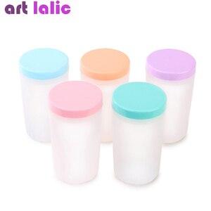 Профессиональный карамельный цвет удобный держатель акриловая ручка очиститель чашка для мытья воды контейнер чашка для дизайна ногтей щетка горшок инструмент для ногтей