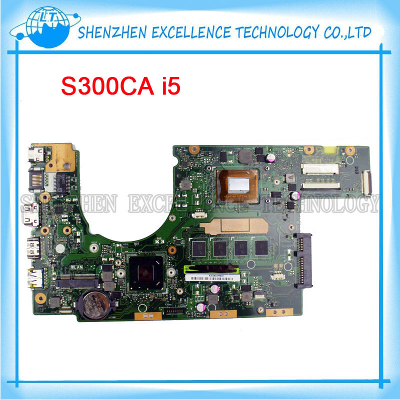 S300CA Laptop Motherboard for Asus Intel i5 3337 CPU REV2.1 S300C mainboard 60NB00Z0-MBE010