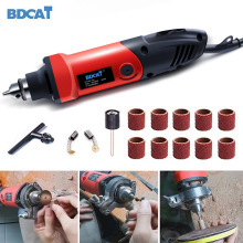 BDCAT 400W 110V/220V Mini Electric Drill with 6 Position Variable Speed Dremel Rotary Tools Grinding Polishing Machine Tools