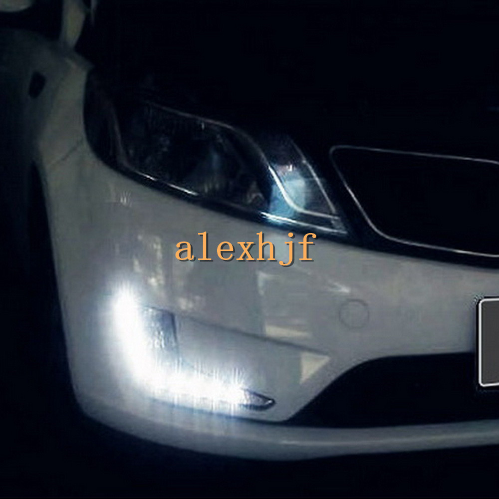 July King LED Daytime Running Lights DRL Fog Lamp Assembly With Yellow Turn Singals Case for KIA K2 / Rio 2011~ 2014 1:1 replace july king led daytime running lights drl led fog lamp case for bmw 3 series e90 2006 2008 with yellow turn signal light