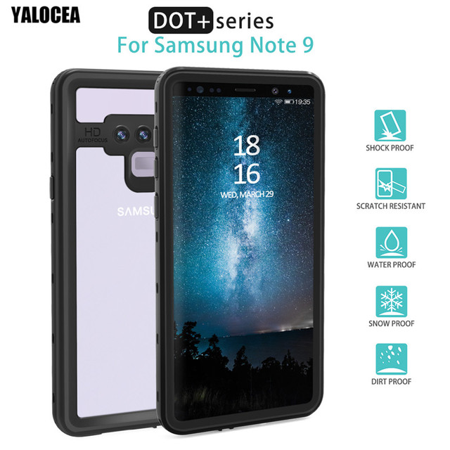 best value 0118a f594d US $19.97 |YALOCEA Waterproof Case for Samsung Galaxy note 9 Note9  Shockproof Armor Transparent 360 Full Cover For Samsung Note 9 Case Capa-in  Fitted ...