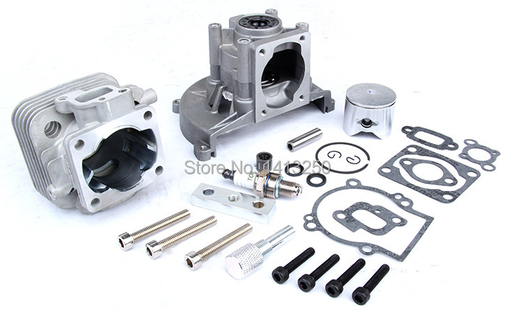 2 hole Upgrade 4 hole 29CC Engine Kit for zenoah cy rovan engines for 1/5 hpi baja losi rc car parts straight row 29cc piston for high speed 29cc gasoline engine zenoah parts rc boat