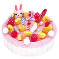 86pcs Cute Cartoon DIY Birthday Cake Toys Kits for Boys and Girls Early Education Kitchen Toys Cutting Toy Children Gift