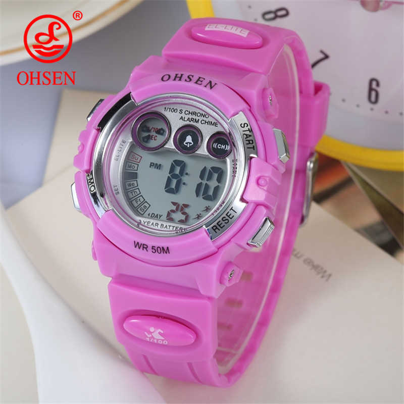 New Arrival OHSEN Waterproof Children Boys Wristwatches Digital LED Sports Watch Kid Alarm Date Clock Gift DROPSHIPPING Hot Sale