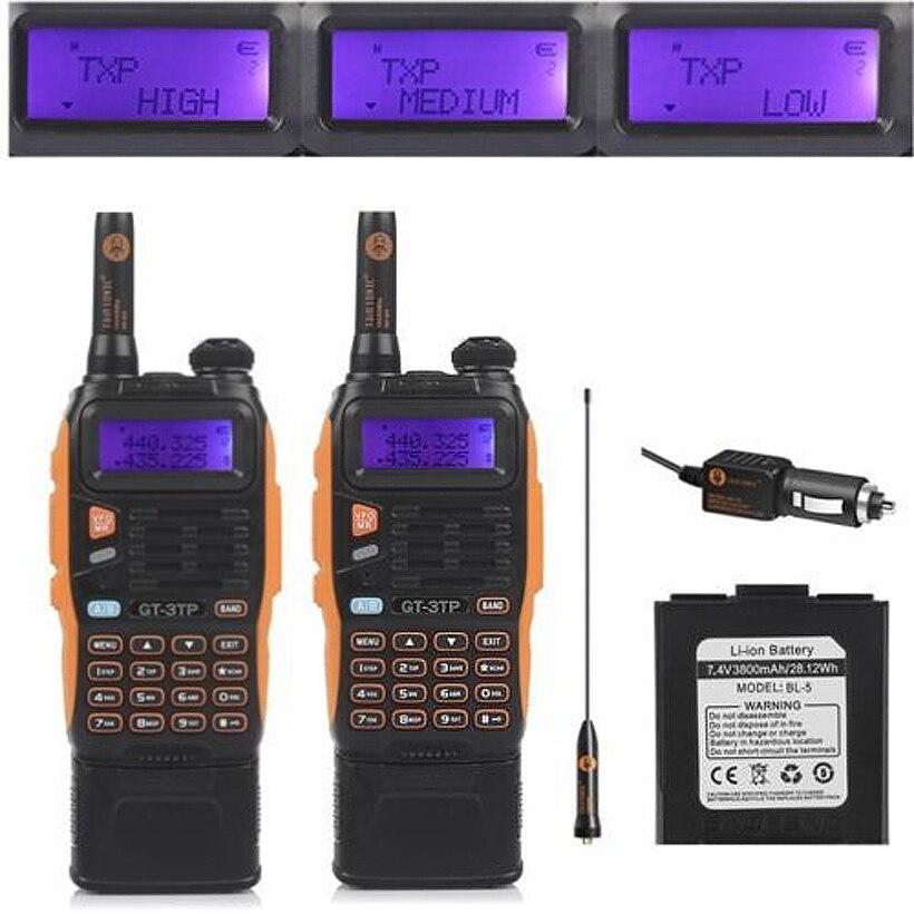 2 pièces 3800 mAh batterie Baofeng GT-3TP Mark III 8 W double bande V/UHF Ham Radio bidirectionnelle talkie-walkie émetteur-récepteur