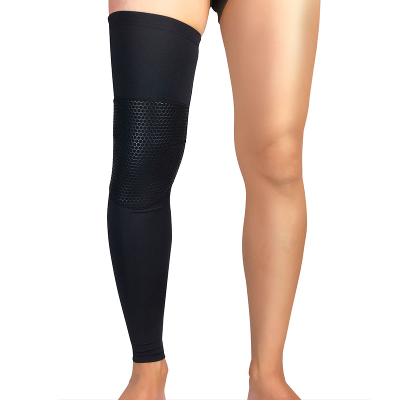 Tcare 1Pcs Compression Leg Sleeves for Men, Women - Full Length Stretch Long Sleeve with Knee Support, Non-Slip Inner Bands
