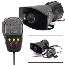 Autoleader 12V 115db Car Loud Horn 7-Sound Siren Microphone For Car Boat Truck 7 Sounds PA System