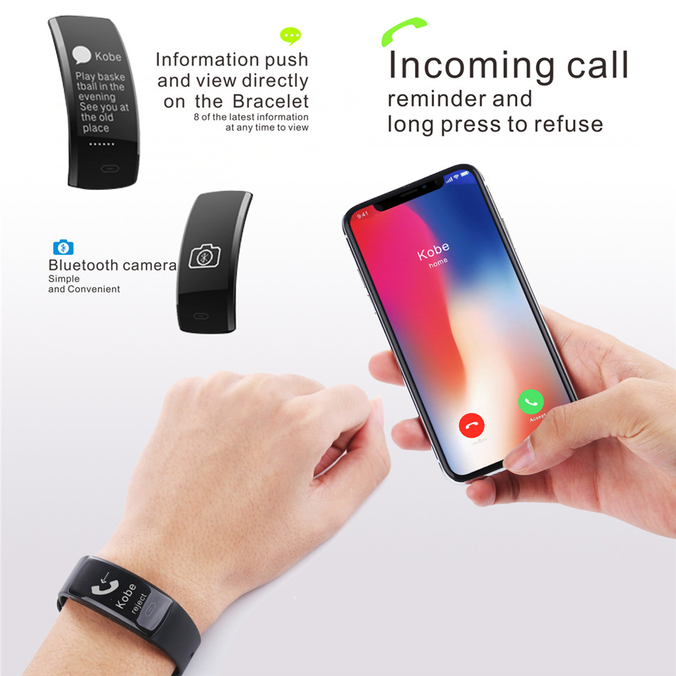 Diggro QS90 Blood Pressure Smart Bracelet Heart Rate Monitor Blood Oxygen Monitor IP67 Fitness Tracker for Andriod IOS VS QS80 11