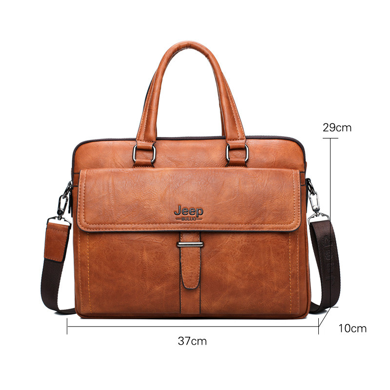 JEEP BULUO Célèbre Marque 2 pcs Ensemble Hommes Porte-Documents Sacs Hanbags Pour Hommes D'affaires de Mode Sac de Messager 13.3» sac d'ordinateur portable 8001/8888 - 4