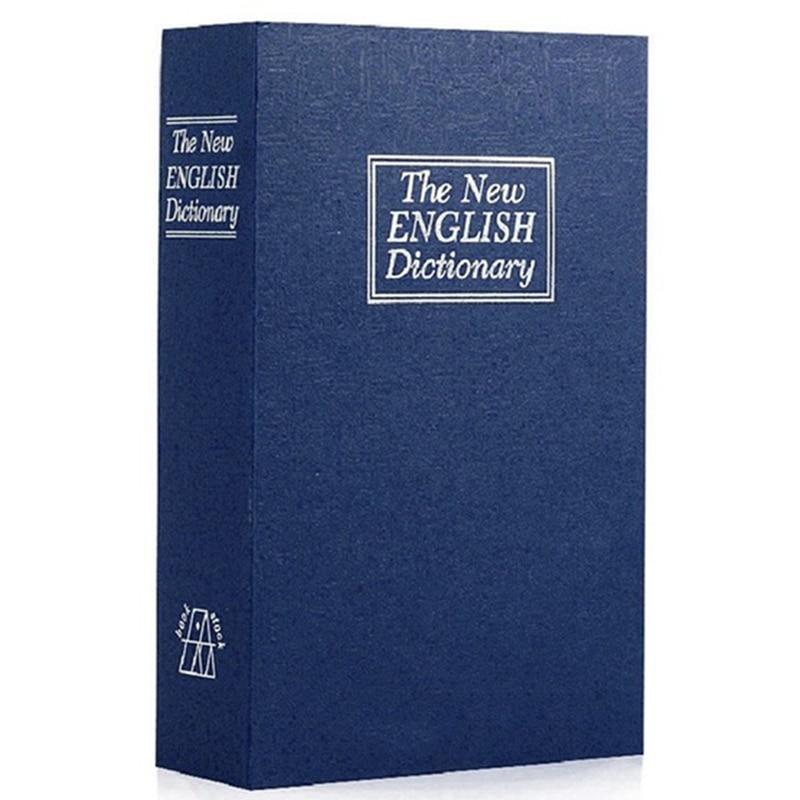 f920092d6 Dictionary Book Safe Diversion Secret Hidden Security Stash Booksafe  Lock Key Blue