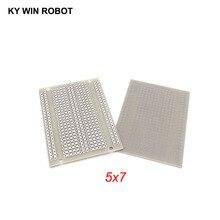 2 шт./лот DIY Прототип бумага PCB Универсальный Эксперимент Матрица печатная плата одно подключенное отверстие пять подключенных отверстий 5x7 см