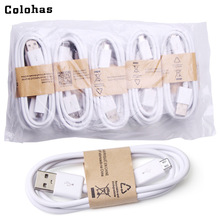 10pcs/Lot Micro USB Data Sync Charging Charger Cable Cords Black White Lace Line for LG Sony Samsuang Galaxy S3 4 Note2 HTC