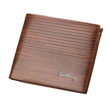 Fashion Solid Leather Men s Wallets Simple Style Purse for man Card Holders male Money bag