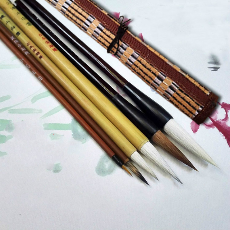 11pcs Chinese Calligraphy Pen Brush Professional Landscape Mountains Painting Brushes Large Middle Small Regular Script Writing regular script dictionary in chinese