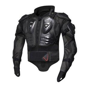 Image 3 - HEROBIKER pancerz motocyklowy ochrona kamizelka kuloodporna ochronny sprzęt Motocross Moto kurtka kurtki motocyklowe z ochraniacz szyi