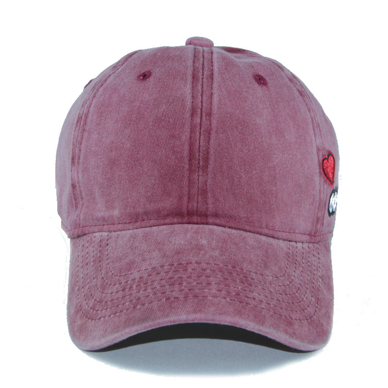 acbd67d0 PATESUN Washed Baseball Caps Women Solid Color Dad Hat Men Bad Hair Day  OOPS Letter Embroidery Couple cap Pink Black trucker hat