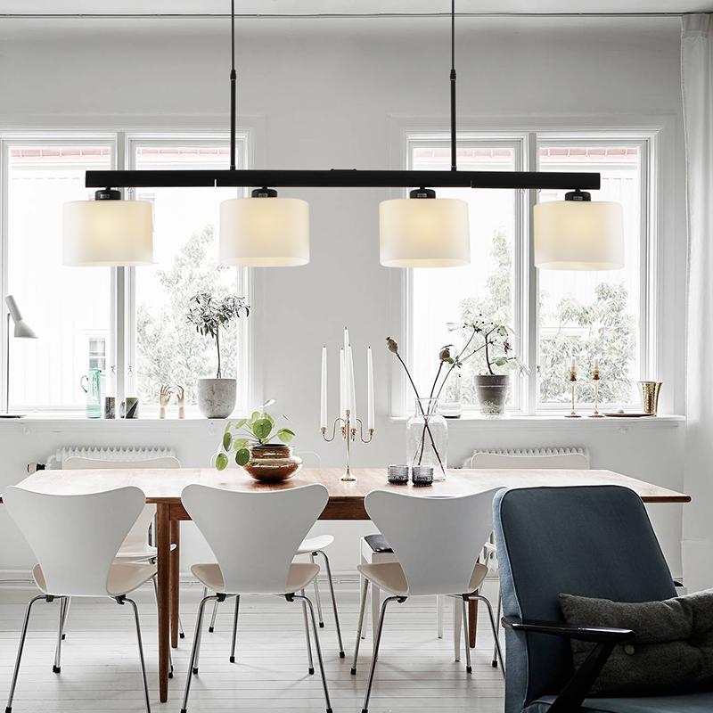 nordic girar colgante restaurante luz de techo lmpara colgante cocina iluminacin lmparas modernas lustre tambor iluminacin