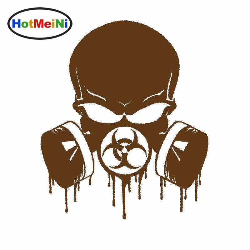 HotMeiNi 15,3*13 см капельный Biohazard череп респиратор Забавный винил JDM наклейка наклейки для окон автомобиля аксессуары для укладки черный/серебристый
