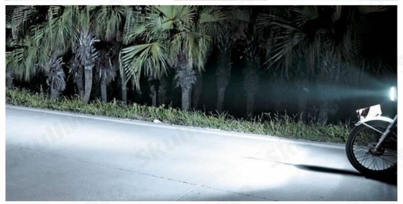 Universal Motorcycle Bike Car H4 Hi/Lo Beam LED Headlight Lamp Bulb +4 LED +6000K light car accessory headlamp