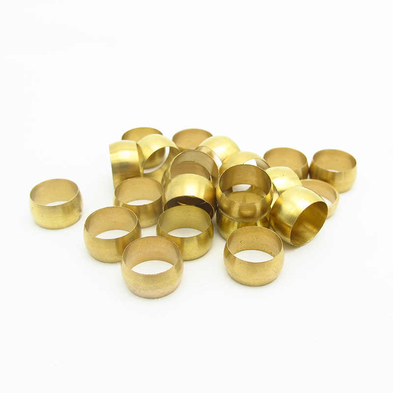 10PCS 3 มม.4 มม.5 มม.6 มม.6.35 มม.8 มม.10 มม.12 มม.14 มม. 16 มม.ทองเหลือง Fit แขนแขนยึด Ferrule แหวน