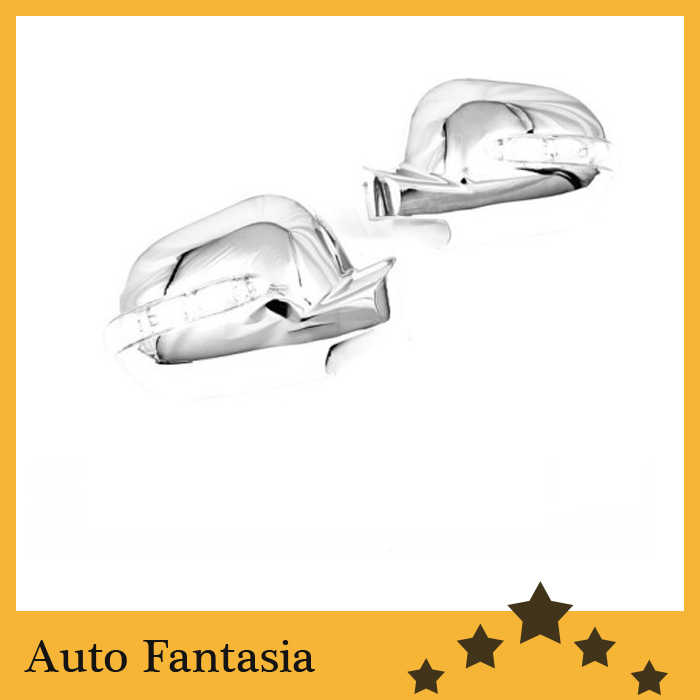 Chrome Side Mirror Cover com LED Side Blinker para Mercedes Benz ML Classe W163