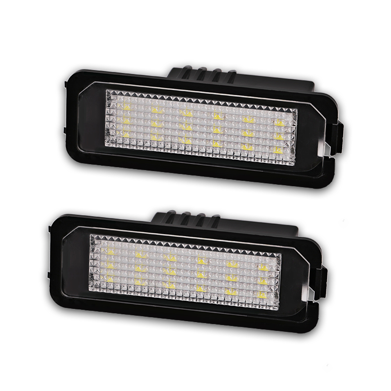 2PCS For VW Led License Plate Light Lamp SMD3528 Number License Plate Light For Volkswagen CC Golf 4  5 6 GTI R32 Scirocco 987 2pcs car led number license plate lamp light no error for vw volkswagen cc golf 4 5 6 gti r32 eos rabbit scirocco 987 997 958
