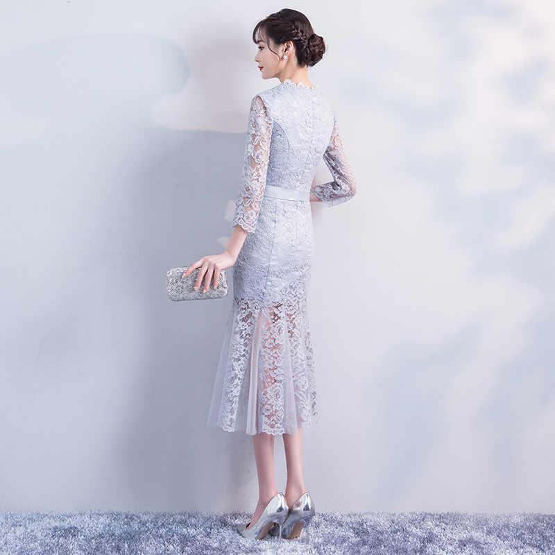Rot Sexy Frühling Cheongsam Traditionelle Chinesische stil Damen Elegante Dünne Qipao Party Dünnes Kleid Lange Robe Vestidos Größe S-XXL
