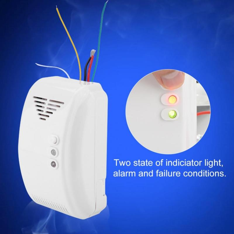 Sound Propane Butane LPG Natural Motor Alarm Natural Gas Alarm Sensor 12V Gas Detector Sensor Gas leaking Detect LED Flash Alarm