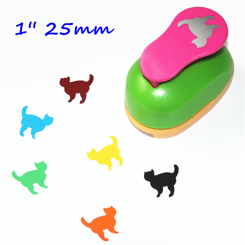 1'' 25mm Cat Paper Punch Eva Foam Diy Furador Scrapbook Paper Cutter Scrapbooking Punches Cortador De Papel De Scrapbook K521