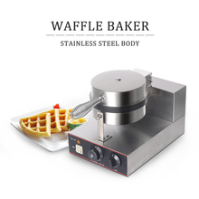 Commercial Waffle Maker Stainless Steel Adjustable Thermostat Waffle Iron Maker Non-Stick Cake Baker Oven Machine electric ice cream bowl waffle baker maker machine stainless steel flower shape non stick cooking surface 220v 110v