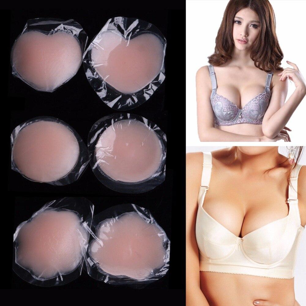 Fashion Saxy Women Push Up Self-Adhesive Silicone Breast Nipple Cover Bra Pasties Pad