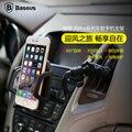 Baseus Универсальный Мобильный Телефон Автомобильный Держатель Air Vent Горе стенд Кронштейн для iPhone 6 plus Samsung Galaxy S6 edge plus для GPS