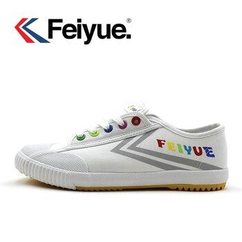 Feiyue giày Pháp gốc sneakers Võ nghệ thuật Taichi Taekwondo Wushu màu đen trắng Cổ Điển KungFu phụ nữ người đàn ông giày trắng