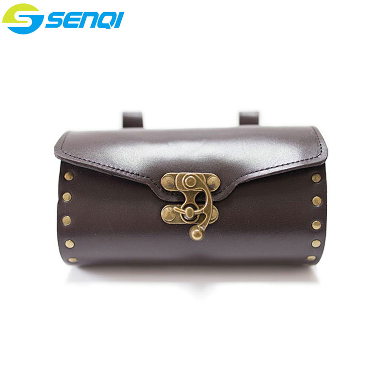 Pure Handmade Genuine Leather Bike Bag Faux Leather Cycling Bicycle Saddle Tail Rear Bags generic 2 3 5l bicycle saddle bag cycling rear bag
