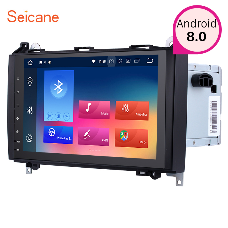 Seicane 9 inch Android 8.0 2Din Car GPS Radio Stereo Audio Player For VW Crafter Mercedes Benz B Class W245 B150 B160 B170 B180 seicane 2din android 8 0 7inch car radio stereo gps multimedia player for mercedes benz slk class slk200 slk280 slk350 slk55